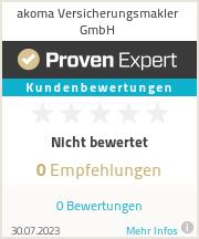 Erfahrungen & Bewertungen zu akoma Versicherungsmakler GmbH