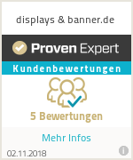 Erfahrungen & Bewertungen zu displays & banner.de