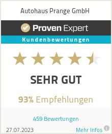 Erfahrungen & Bewertungen zu Autohaus Prange GmbH