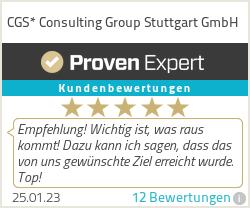 Erfahrungen & Bewertungen zu CGS* Consulting Group Stuttgart GmbH
