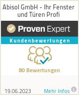 Erfahrungen & Bewertungen zu Abisol GmbH - Ihr Fenster und Türen Profi