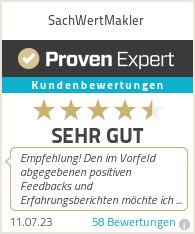 Erfahrungen & Bewertungen zu SachWertMakler