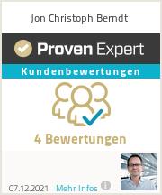 Erfahrungen & Bewertungen zu Jon Christoph Berndt