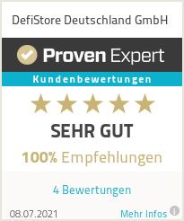 Erfahrungen & Bewertungen zu DefiStore Deutschland GmbH
