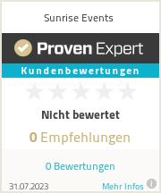 Erfahrungen & Bewertungen zu Sunrise Events