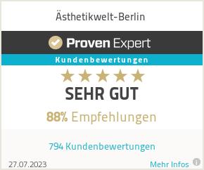 Erfahrungen & Bewertungen zu Ästhetikwelt-Berlin