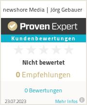 Erfahrungen & Bewertungen zu newshore Media | Jörg Gebauer