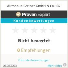 Erfahrungen & Bewertungen zu Autohaus Greiner GmbH & Co. KG