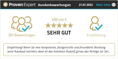 Erfahrungen & Bewertungen zu Autohaus Rudorff anzeigen