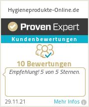 Erfahrungen & Bewertungen zu Hygieneprodukte-Online.de