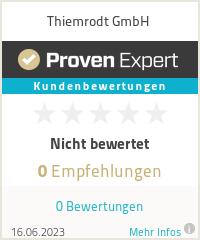 Erfahrungen & Bewertungen zu Thiemrodt GmbH