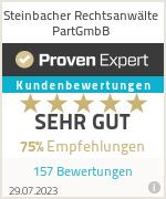 Erfahrungen & Bewertungen zu Steinbacher Rechtsanwälte PartGmbB