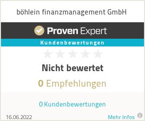 Erfahrungen & Bewertungen zu böhlein finanzmanagement GmbH