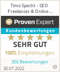 Erfahrungen & Bewertungen zu Timo Specht - SEO Freelancer & Online Marketing Experte