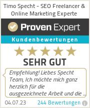 Erfahrungen & Bewertungen zu Timo Specht - SEO Freelancer & Online Marketing Experte