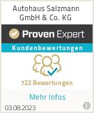 Erfahrungen & Bewertungen zu Autohaus Salzmann GmbH & Co. KG
