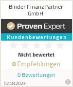 Erfahrungen & Bewertungen zu Binder FinanzPartner GmbH