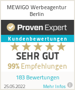 Erfahrungen & Bewertungen zu MEWIGO Werbeagentur Berlin