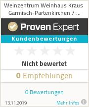 Erfahrungen & Bewertungen zu Weinzentrum Weinhaus Kraus Garmisch-Partenkirchen / Farchant