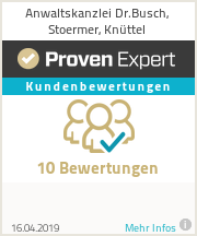Erfahrungen & Bewertungen zu Anwaltskanzlei Dr.Busch, Stoermer, Knüttel