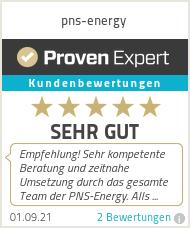 Erfahrungen & Bewertungen zu pns-energy