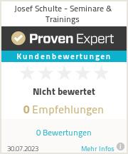 Erfahrungen & Bewertungen zu Josef Schulte - Seminare & Trainings