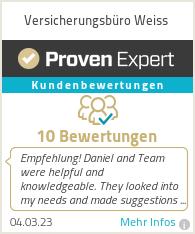 Erfahrungen & Bewertungen zu Versicherungsbüro Weiss