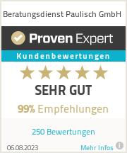 Erfahrungen & Bewertungen zu Beratungsdienst Paulisch GmbH