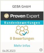 Erfahrungen & Bewertungen zu GEBA GmbH