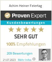 Erfahrungen & Bewertungen zu Achim Heiner Feiertag
