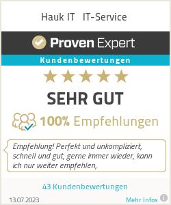Erfahrungen & Bewertungen zu Hauk IT - Computer & EDV Service