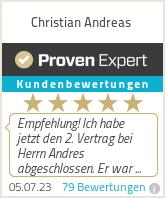Erfahrungen & Bewertungen zu Christian Andreas