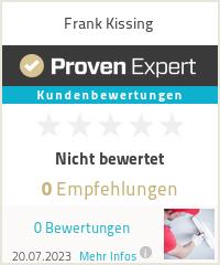 Erfahrungen & Bewertungen zu Frank Kissing