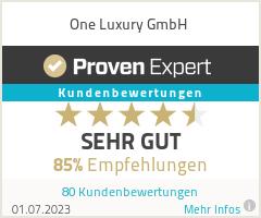 Erfahrungen & Bewertungen zu One Luxury GmbH