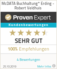 Erfahrungen & Bewertungen zu McDATA Buchhaltung* Isen- Robert Veldhuis