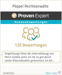 Erfahrungen & Bewertungen zu Pöppel Rechtsanwälte