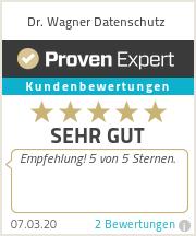 Erfahrungen & Bewertungen zu Dr. Wagner Datenschutz