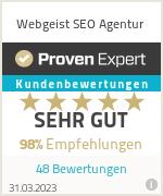 Erfahrungen & Bewertungen zu Webgeist Online Positionierung