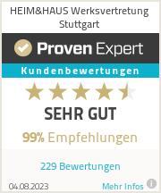 Erfahrungen & Bewertungen zu HEIM&HAUS Werksvertretung Stuttgart
