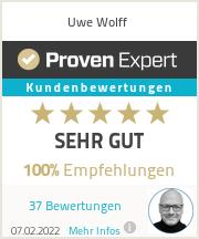 Erfahrungen & Bewertungen zu Uwe Wolff