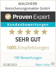 Erfahrungen & Bewertungen zu WALDHERR Versicherungsmakler GmbH