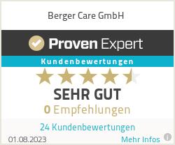 Erfahrungen & Bewertungen zu Berger Care GmbH