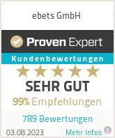 Erfahrungen & Bewertungen zu ebets GmbH