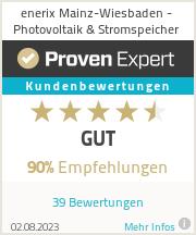 Erfahrungen & Bewertungen zu enerix Mainz-Wiesbaden - Photovoltaik & Stromspeicher