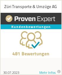 Erfahrungen & Bewertungen zu Züri Transport AG