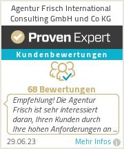 Erfahrungen & Bewertungen zu Agentur Frisch International Consulting GmbH und Co KG