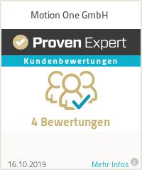 Erfahrungen & Bewertungen zu Motion One GmbH