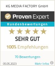 Erfahrungen & Bewertungen zu KG MEDIA FACTORY GmbH