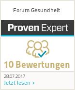 Erfahrungen & Bewertungen zu Forum Gesundheit