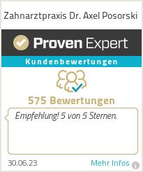 Erfahrungen & Bewertungen zu Zahnarztpraxis Dr. Axel Posorski